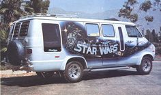 we had a custom star wars van... almost just like this one