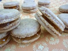 Diary of a Mad Hausfrau: Macaron Mondays: French Four Spice Macarons with Apricot Preserve Filling