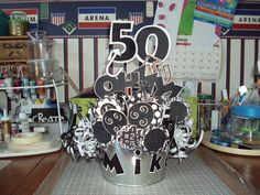 50th birthday party themes for men | Via Marianna Montoya Watson