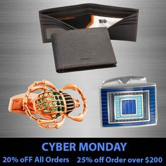 Use code: CYBER20 for 20% off, or CYBER25 for 25% off orders over $200.   #CyberMonday #BlackFriday #bargains #christmas #shopping #jewelry #menswear #cufflinks #fashion #gifts