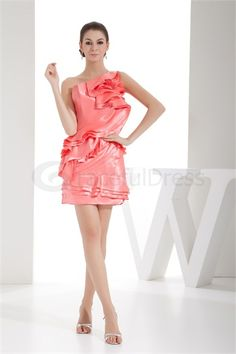 Robe de cocktail mini/court une épaule en satin textile élastique http://fr.GracefulDress.com/Robe-de-cocktail-mini-court-une-épaule-en-satin-textile-élastique-p20561.html