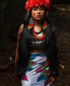 Cultura Embera, Panamá 🇵🇦 Crédito: imbisu2 Dresses, Style, Fashion, Indigenous Art, Culture, Vestidos, Swag, Moda, Fashion Styles
