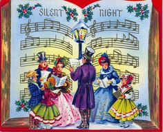 Silent night, holy night... #vintage #Christmas #cards