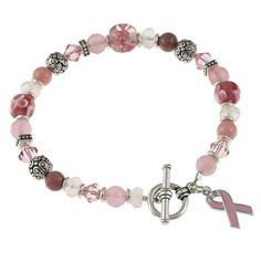 Charming Life Silvertone Jade and Quartz Breast Cancer Awareness Bracelet - Overstock Shopping - Top Rated Charming Life Gemstone Bracelets Jade Bracelet, Gemstone Bracelets, Pearl Bracelet, Jade Jewelry, Crystal Jewelry, Bling Bling, Cute Bracelets, Jewelry Bracelets, Jewelry Watches