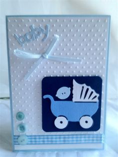 baby card with cuttlebug