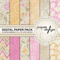 chic Papers Digital Paper Pack Summer digital Paper von Stilboxx