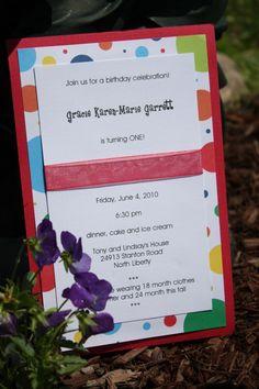 Homemade Invitation 1st Birthday3 Birthday Invitations Party Invites