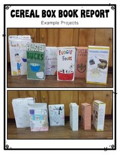 Cereal Box Book Report - Directions, Rubric & Example Photos