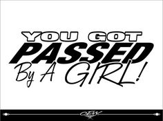 Performed a girl vinyl car decal, funny, fun automobile lettering, window decal, girl car sticker