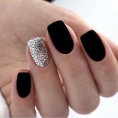 Trendy Matte Black Nails Designs Inspirations For Ladies Trendy Matte Black Nails Designs Inspirations For Ladies These trendy Nails ideas would gain you amazing compliments. Check out our gallery for more ideas these are trendy this year. Nail Art Pastel, Nail Art Cute, Colorful Nail, Cute Acrylic Nails, Matte Black Nails, Black Nail Art, Dark Nails, Black Nails Short, White Nail