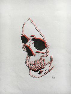 Skull illustration created using fine liners Tattoo Samurai, Yakuza Tattoo, Tattoo Drawings, Art Drawings, Art Tattoos, Skull Illustration, Skeleton Art, Desenho Tattoo, Crane