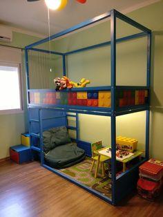 [En direct] Kids loft kura bed with nordli stairs - Ikea hackers @ikeahacks