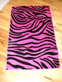Amazon.com: Girls Bedroom Decor Light Pink Zebra Stripe Throw Rug Teen Room: