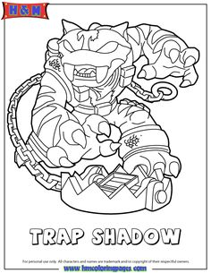 Skylanders Trap Team coloring pages - Chompy Mage   Character ...