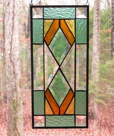 Stained Glass Rectangle Panel Southwest by CartersStainedGlass