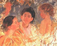 Mary Cassatt Two Young Girls with a Child, 1897