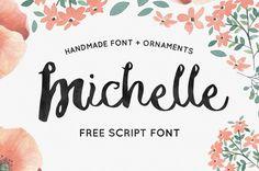 Michelle – Free Handmade Script Font By Noe Araujo for Free #onselz