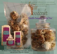 Vanilla and Caramel Flavoured Mixed Nuts. Health food for the soul