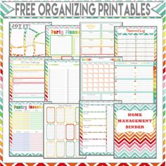 Free Organizing Printable's http://diyhshp.blogspot.com/2013/07/ultimate-life-planning-system.html?m=1
