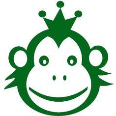 flockfolie aap met kroon