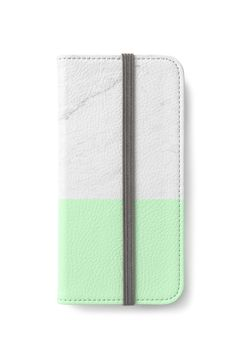 'Marble And Mint' iPhone Wallet by artbyjwp from Redbubble #phonecase #iphonecase #iphonewallet #marble #mint
