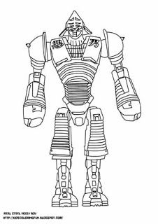 Real Steel Noisy Boy And Other Coloring Pages Real Steel Niosy Boy