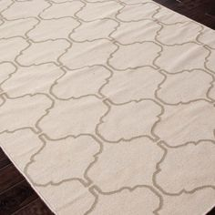 Jaipur Maroc Delphine Antique White/Silver Gray Flat Weave Rug @Zinc_Door