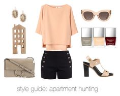 """""""Style Guide: Apartment Hunting"""" by saradelabarre ❤ liked on Polyvore featuring Chloé, Kendra Scott, CÉLINE and Butter London"""