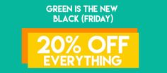 20% OFF - Green is the new Black (Friday) - http://pynck.com/2017/03/20-off-green-new-black-friday.html