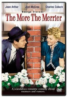 Directed by George Stevens. With Jean Arthur, Joel McCrea, Charles Coburn, Richard Gaines. During the World War II housing shortage in Washington, two men and a woman share a single apartment and the older man plays Cupid to the other two. All Movies, Great Movies, Movies To Watch, Movie Tv, Family Movies, Amazing Movies, Film Watch, Classic Movie Posters, Classic Movies