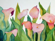 Calla Lily Watercolor Painting