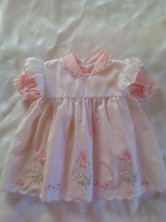 Vintage 80's Baby Dress size 12 mos. - US $6.99 Pre-owned in Clothing, Shoes & Accessories, Baby & Toddler Clothing, Girls' Clothing (Newborn-5T)