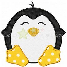 Penguin Applique Design Baby Applique, Applique Monogram, Machine Embroidery Applique, Embroidery Patterns, Embroidery Shop, Custom Embroidery, Applique Quilts, Applique Designs, Applique Templates