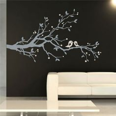 Image detail for -Birds and Blossom Wall Sticker tree and bird wall decor - Stylehive