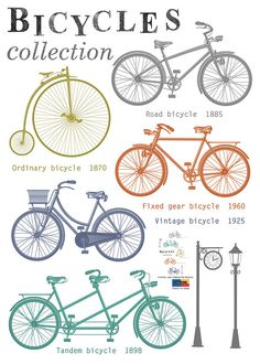 Wall Point Sticker : Bicycles collection, Bicycles point sticker, Road Bicycles, Ordinary Bicycles ,Fixed gear Bicycles, Vintage Bicycles