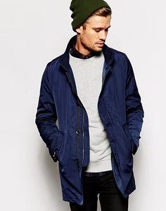 Shop Selected Blue Mac at ASOS. Asos, Fashion Online, The Selection, Mac, Bomber Jacket, Winter Jackets, Blue, Shopping, Clothes