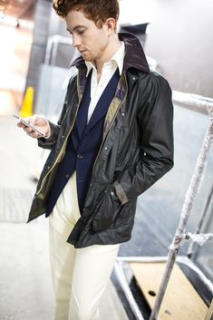 Jake in Barbour Asian Bedale