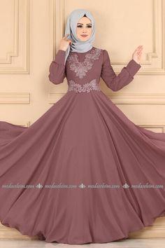 Modaselvim ABİYE Güpürü İncili ve Taşlı Abiye 9302W153 Gül Kurusu Modest Fashion Hijab, Muslim Fashion, Fashion Dresses, Special Dresses, Formal Dresses, Wedding Dresses, Gown Wedding, Hijab Dress, The Dress