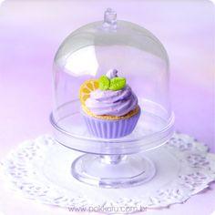 colar cupcake gourmet - lavender lemonade