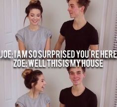 Joe and Zoe Sugg These guys are soo funny😂😂 Joe Sugg, Joe And Zoe Sugg, Pewdiepie, Markiplier, Caspar Lee, Green Bay Packers, Youtube Vines, Youtube Stars, Buttercream Squad