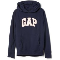Gap Women Textured Logo Pullover Hoodie (£36) ❤ liked on Polyvore featuring  tops 9ef2282a98