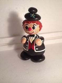 Vintage-Unusual-Hand-Painted-Crafted-Rock-Clown