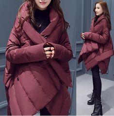 Новая Зимняя Мода одежда куртка Женщин Вниз Куртки Женщины Толстый Пуховик Теплый Slim Down Хлопка Ватник Женщин Куртка Пальто