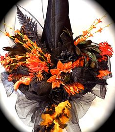 The Fire Maiden Witch Hat  Halloween Costume OOAK by Marcellefinery on Etsy https://www.etsy.com/listing/157964445/the-fire-maiden-witch-hat-halloween