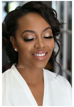 Wedding Makeup For Brown Eyes, Bridal Makeup Looks, Natural Wedding Makeup, Bridal Hair And Makeup, Wedding Hair And Makeup, Natural Makeup, Maquillage Yeux Cut Crease, Maquillage Black, Make Up Looks