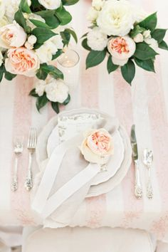 brides of adelaide magazine - romantic wedding - pale pink and green - table setting