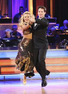 Chelsie Hightower and Tristan MacManus perform on Dancing With the Stars.