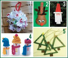 Great ideas for home/ kid made Christmas decorations. (The whole series this is part of is great as well.)