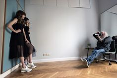 Harri Peccinotti, Kenza Fourati and Camilla D'Alfonso #PINKO #backstage #FW15