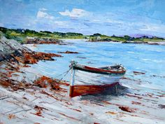 Soarsa ashore, Boathouse Bay, Gigha by Erni Upton